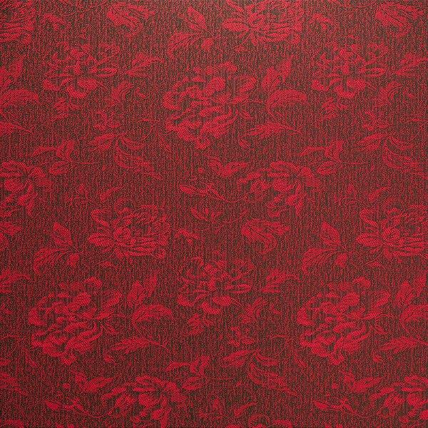 Tecido Para Sofá e Estofado Jacquad Impermeabilizado Panama 129 Flor Vinho - Largura 1,40m - PN-129