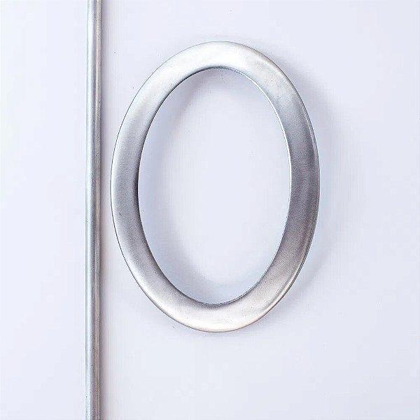Abraçadeira Fivela Oval Aço Escovado - FO-0138