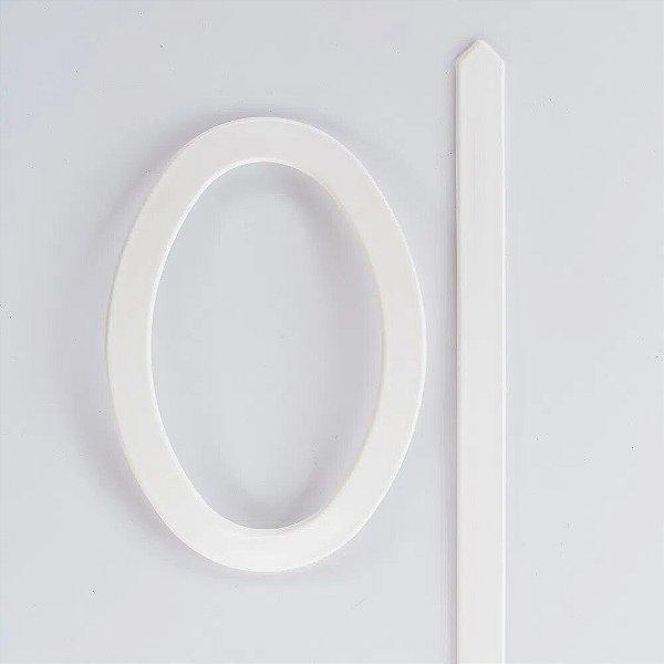 Abraçadeira Fivela Oval em PVC - Branco - FIVO-16