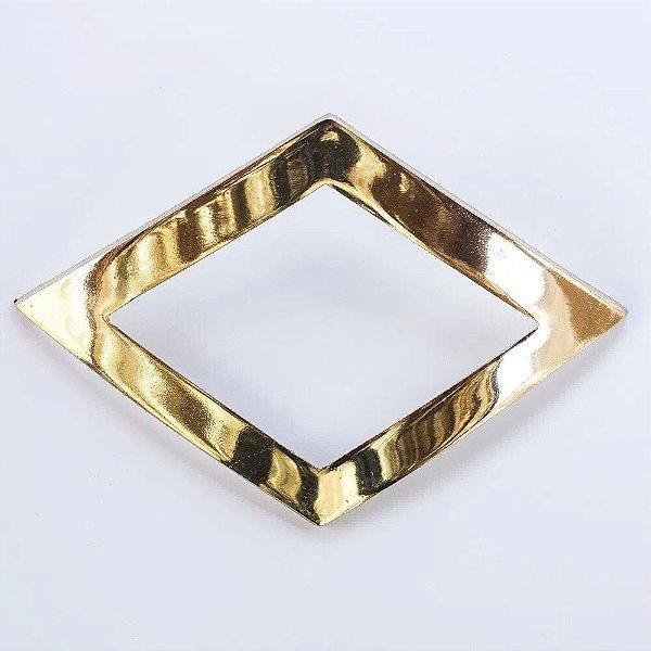 Abraçadeira Fivela Losango Dourado Pequena
