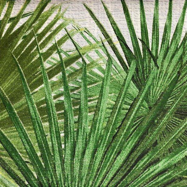 Tecido Riviera Impermeabilizado Plantas Verdes