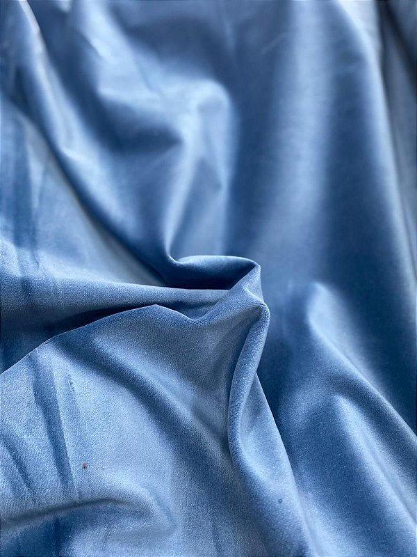 Veludo de Algodão Azul Royal