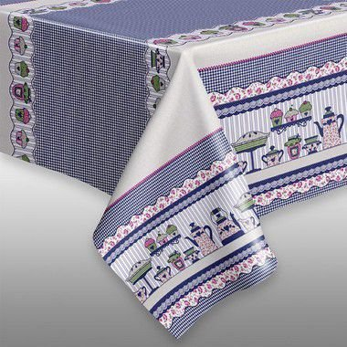 Toalha de mesa Plástica Térmica Chá da Tarde 1,40x1,00