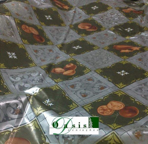 Toalha de Mesa Térmica Transparente Estampada Tomates 1,40x1,00