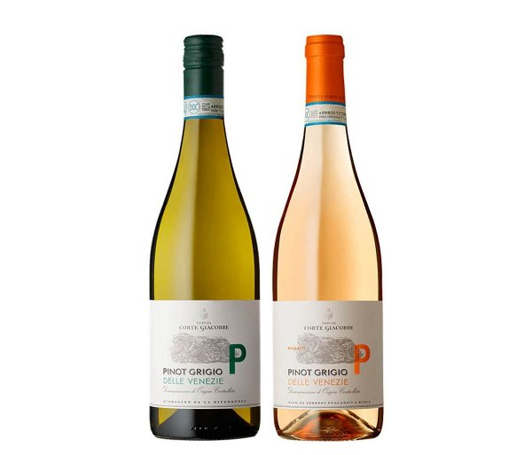 Pack 25% OFF - 1 Pinot Grigio Bianco + 1 Pinot Grigio Ramato  - Delle Venezie D.O.C.