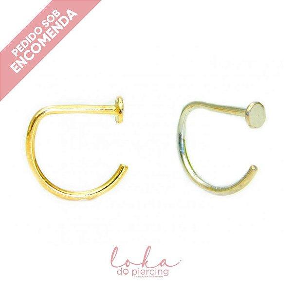Piercing Argola G-Ring - Ouro 18k