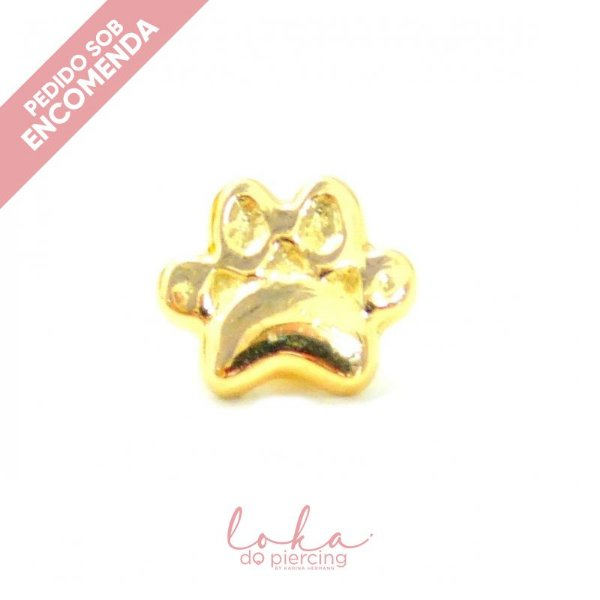Piercing Labret Patinha - Ouro 18k