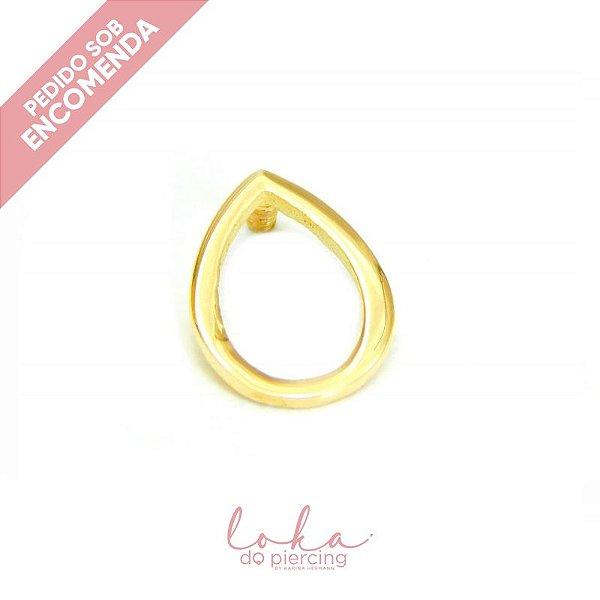 Piercing Labret Gota Vazada - Ouro 18k