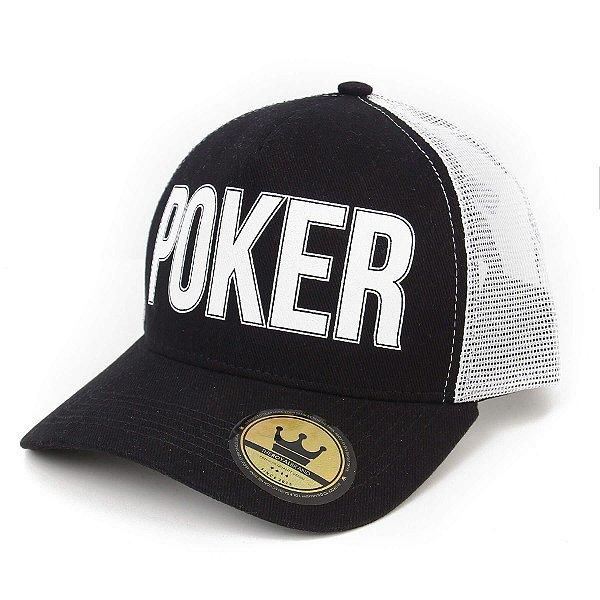 Boné Poker Preto