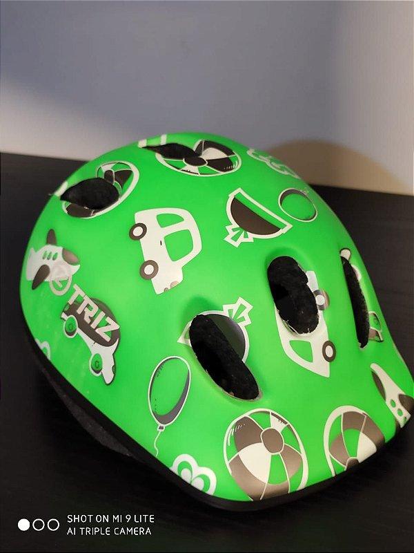 Capacete Infantil Triz Toys Verde