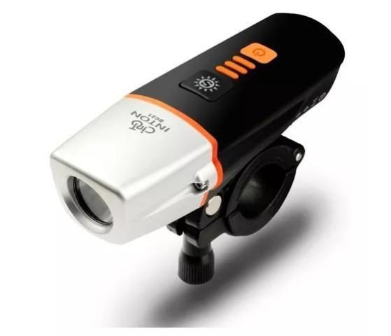 Farol Bike Bicicleta Potente Usb Luz Com Sensor Luz Noturna