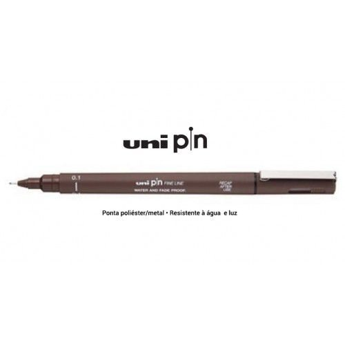 Caneta Uni Pin 0.1 Sepia - Uniball