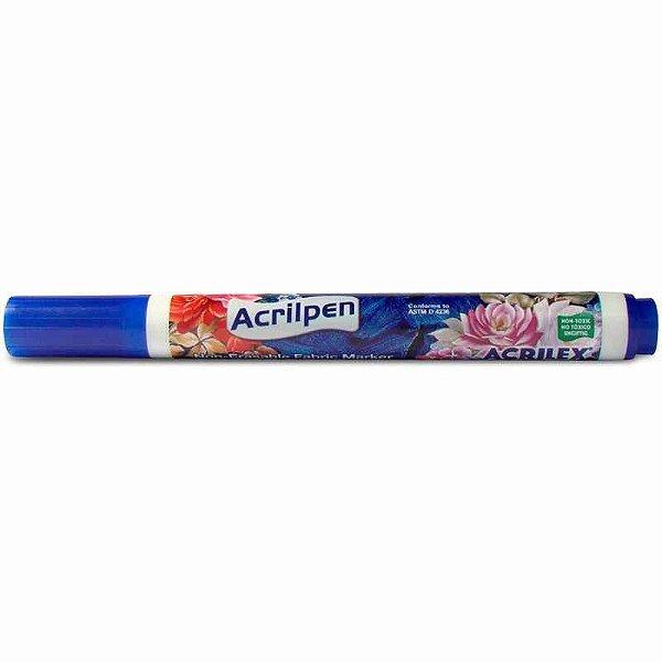 Caneta Para Tecido Azul Turquesa Acrilpen - Acrilex
