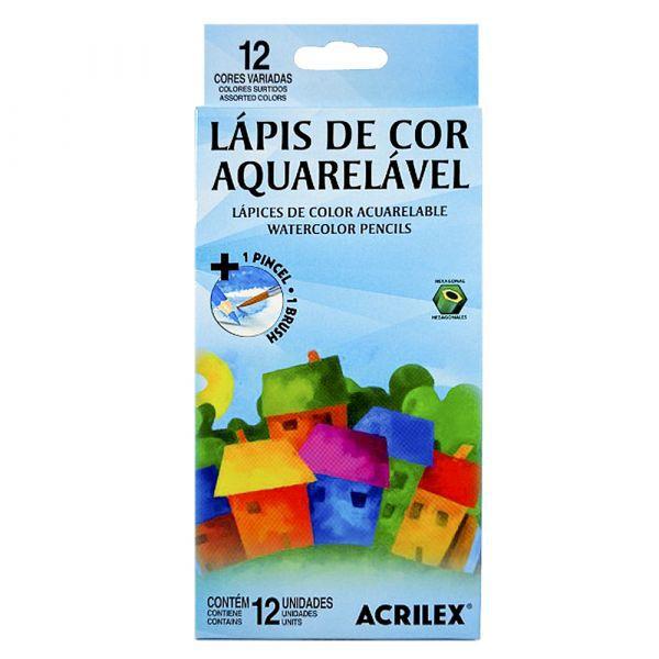 Lápis De Cor Aquarelável 12 Cores - Acrilex