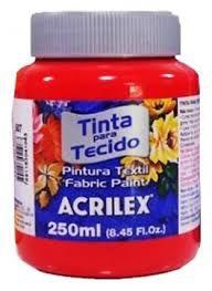 Tinta Tecido Fosca 250ml Vermelho Fogo - Acrilex
