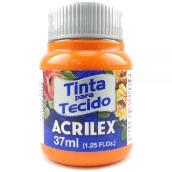 Tinta Tecido Laranja 37ml - Acrilex