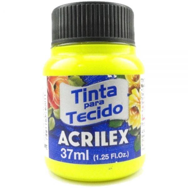 Tinta Tecido Fluor 37ml Amarelo Limão - Acrilex