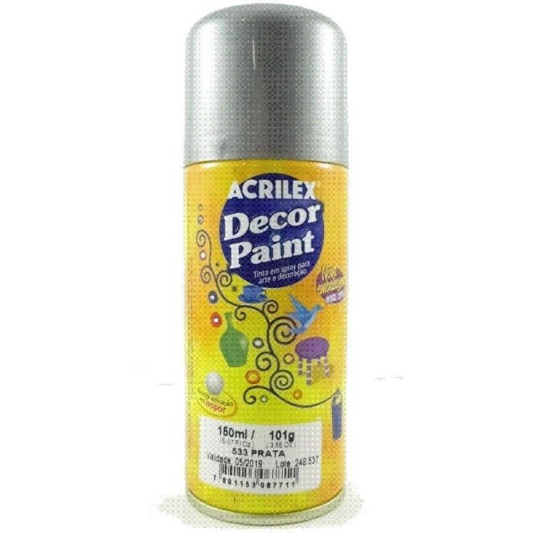 Tinta Em Spray Decor Paint Prata - Acrilex