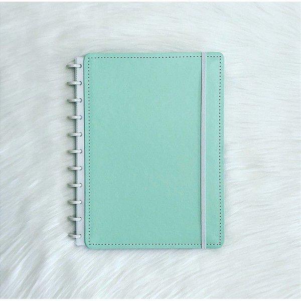 Caderno  Grande Verde Pastel - Caderno inteligente
