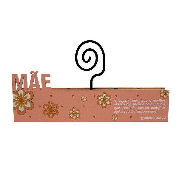 Placa Porta Retrato Mda Mãe 19X6CM - Zona Criativa