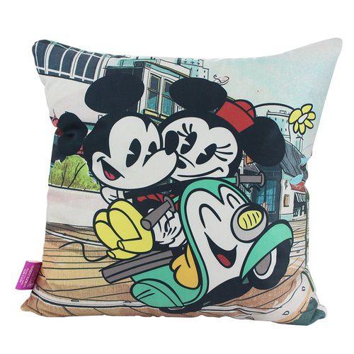Almofada Veludo Mickey e Minnie Cartoon - Zona Criativa