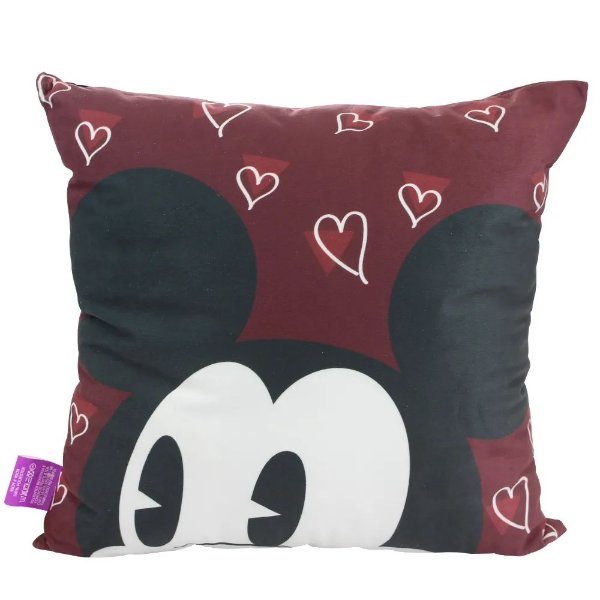 Almofada Veludo Mickey e Minnie Apaixonados - Zona Criativa