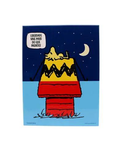 Quadro Metal Woodstock Snoopy