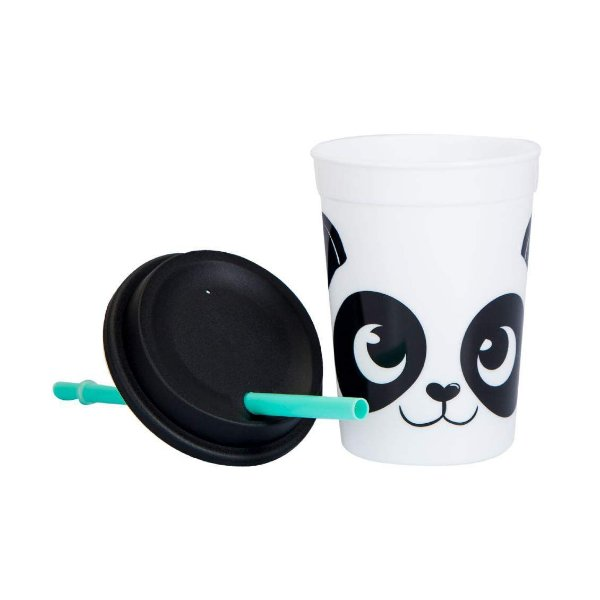 Mini Copo Pop Com Canudo Panda
