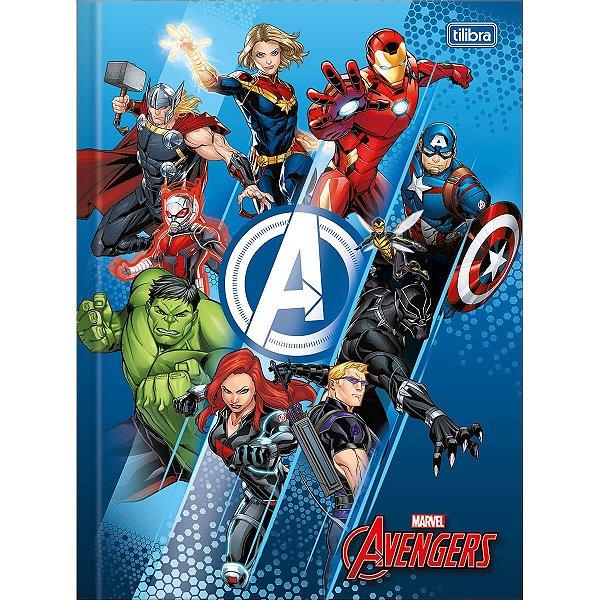 Caderno Brochura Universitario Avengers 48F - Tilibra