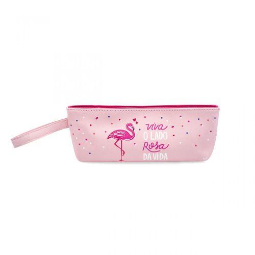 Necessaire Com Alca Flamingos
