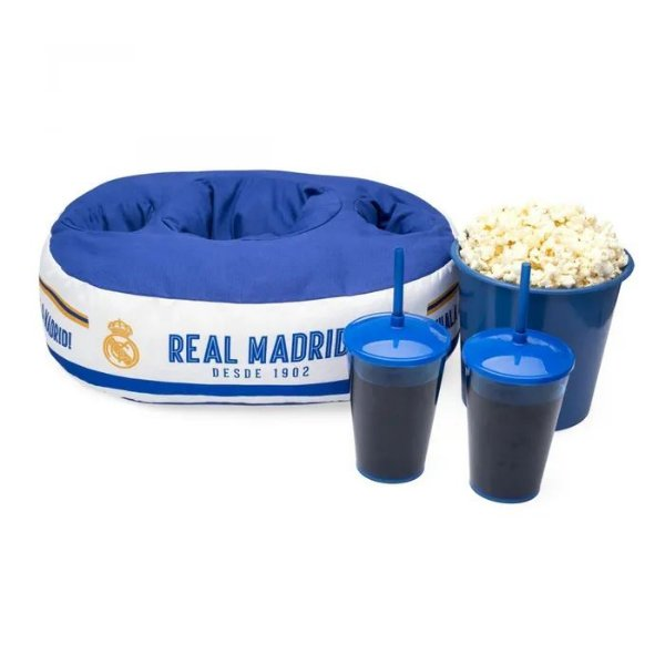 Almofada Kit Pipoca Duplo Real Madrid - Ludi