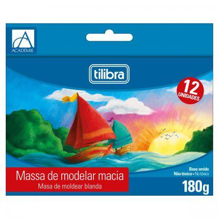Massinha de Modelar 12 cores - Tilibra