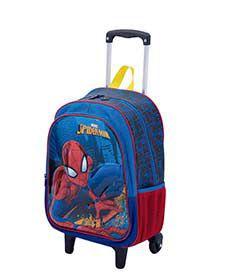 Mochila G C/ Bolso 2 Em 1 Spiderman 19m