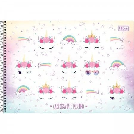 Caderno de Cartografia e desenho Unicórnio - Tilibra