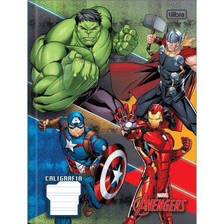 Caderno Brochura Caligrafia Avengers - Tilibra
