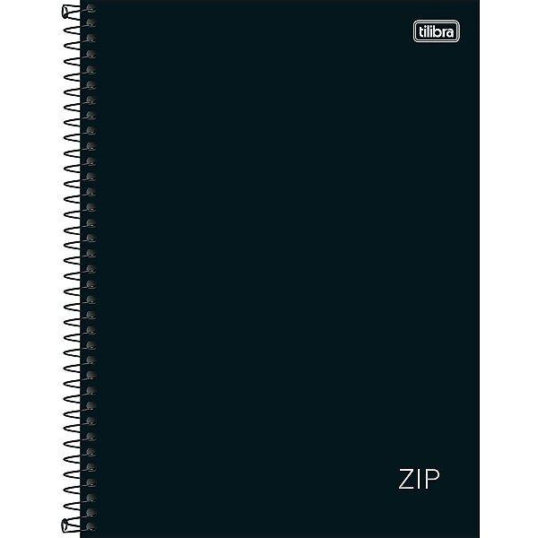 Caderno ZIP Preto 10 Matéria  - Tilibra