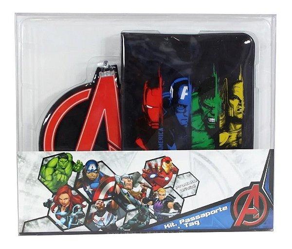Kit Viagem Tag e Passaporte Avengers - Zona Criativa