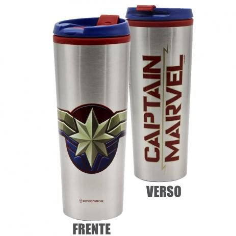 Copo Viagem Captain Marvel - Zona Criativa