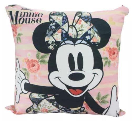 Almofada Veludo Minnie Floral - Zona Criativa