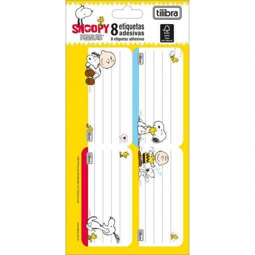 Etiqueta ades Snoopy - Tilibra