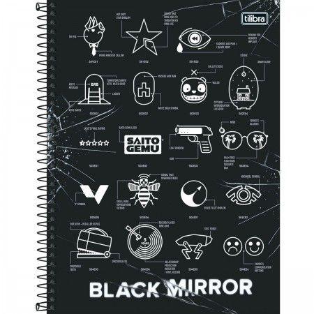 Caderno Universitário Black Mirror - Tilibra