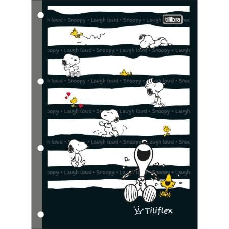 Refil para Fichário Tiliflex Snoopy 80F- Tilibra