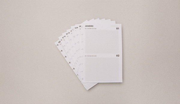 Refil A5 Agenda Permanente - Caderno inteligente