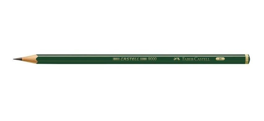 Lápis Grafite Castell 9000 - H FSC - Faber-Castell