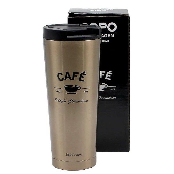 Copo Tumbler Café Premium- Zona Criativa