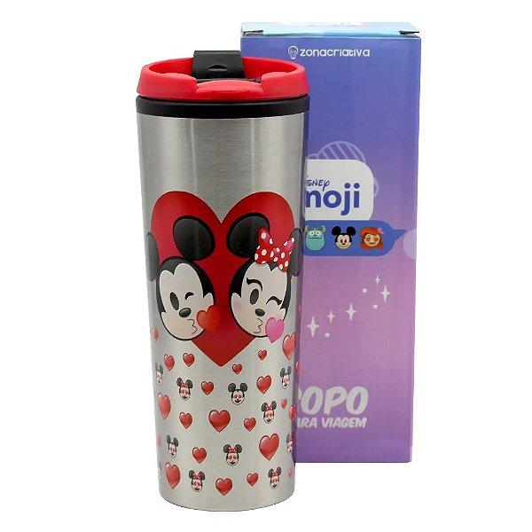 Copo Viagem Mickey e Minnie Emoji