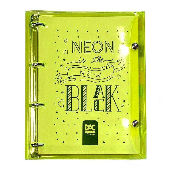 Caderno Argolado Color Bubble Amarelo - DAC
