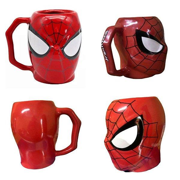 Caneca Formato 3D Spider man 400ml - Zona Criativa