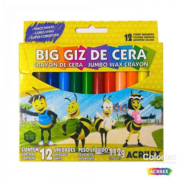 Big Giz De Cera/ 12 Cores - ACRILEX