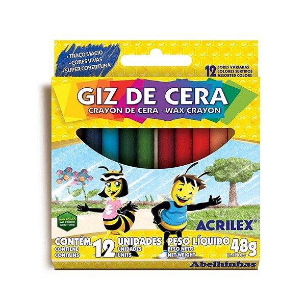 Giz De Cera/12 Cores - ACRILEX